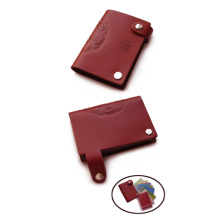 Blood red vintage wallet women card holder