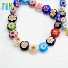 wholesale gemstone sale flat square millefiori glass beads