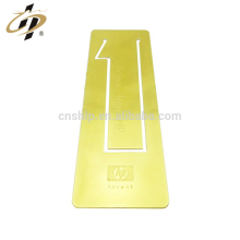 Custom metal laser etch logo good bookmark with own design