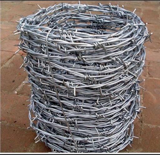 Bulk 2 Strands Barbed Wire Length Per Roll