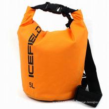 Выдвиженческие 5 литров ПВХ Водонепроницаемый сухой мешок ствола рюкзак (YKY7238)