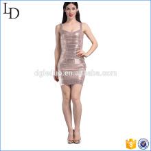 Próprio projeto de vestido de lantejoulas bodycon western dress design 2017