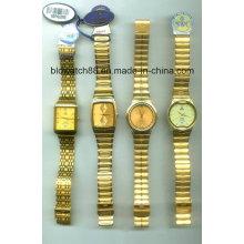 Antique Golden Brass Case Armbanduhren für Männer