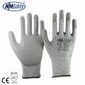 NMSAFETY New Arrival Cut resistant level 5 work gloves cutproof en388 anti-cut gloves