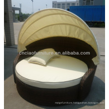 F-CF791 outdoor rattan sun bed