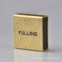 Boîte à bijoux à anneau magnétique avec logo personnalisé en papier spécial