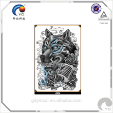 Papel de tatuagem temporária de grande porte com alta qualidade (design personalizado)