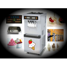 Soft Serve Ice Cream Making Machine With Pre-cooling System, 3 Flavors Hour Commercial Ice Cream Maker