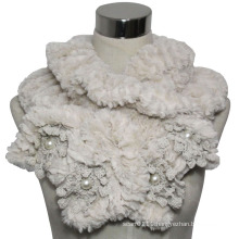 Lady Fashion Polyester Faux Fur Knitted Scarf (YKY4365A)