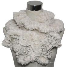 Леди мода полиэстер искусственного меха вязаный шарф (YKY4365A)