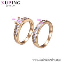 15603-Xuping ювелирные изделия сочетание палец кольцо для унисекс 18-каратного золота цвет