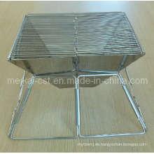 Leichtklappbarer Grill aus Holzkohle-Edelstahl (Verwendung im Freien)