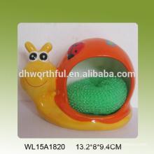 Snail shaped ceramic sponge holder in best price