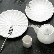 Гостиничный фарфор овальный тисненый тарелки посуда