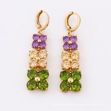 24838 xuping Best sale Jewelry Synthetic CZ  18K gold color custom Luxury Drop earrings
