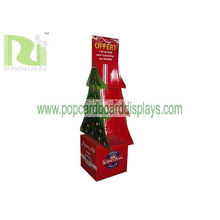 Corrugated Cardboard Corrugated Christmas Tree Shape Cardboard Counter Displays