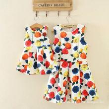 Vestido de niña y bebé vestido de conjunto / ropa de familia / vestido de flores