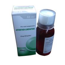 GMP Artemether + Suspensão a seco de Lumefantrina 180mg + 1080mg / 60ml