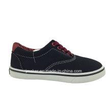 Zapato de lona que camina del niño al por mayor clásico (9985-S & B)