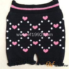 Feather Yarn Classcial Pattern Elastic Underwear Room Pants