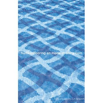 Mosaïque de mosaïque en verre Mosaïque de piscine (HSP327)