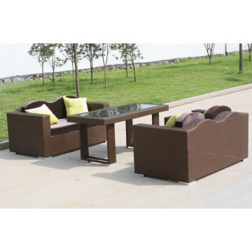 Patio Rattan Pe Rattan Outdoor Modern Sofa Set