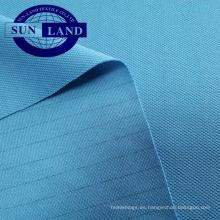Tejido de malla antiestático de piqué de poliéster para ropa de trabajo de fábrica electrónica