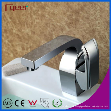 Fyeer Deck Mounted Chrome Single Handle Bathroom Hot &Cold Water Mixer Tap