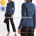 Venta al por mayor de las mujeres de la manera de la fabricación de la chaqueta del dril de algodón de doble botonadura (TA3031C)