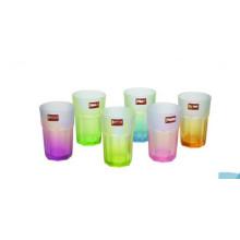 Coupe en verre de couleur et haute qualité pour verre de thé