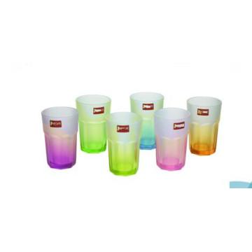 Color y copa de vidrio de agua potable de alta calidad para vasos de té