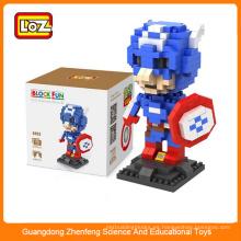 Bloques de plástico para niños, bloques de construcción educativos mini juguete hombre super