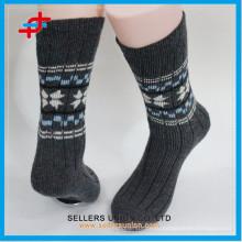 2015 Зимний новый стиль Теплый взрослых мужчин случайных вязание шерстяной носок