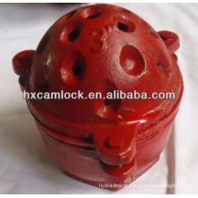 Válvula de Pé Vermelha do tipo