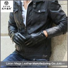 China supplier high quality Black Patent Leather Gloves