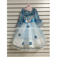 Blue Cap Sleeve Party Dress