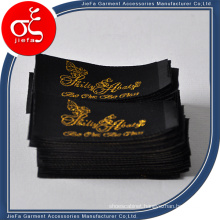 Brand Black Label with Gold Metal Yarn for Clothing Label