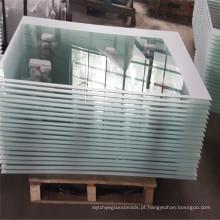 Forneça a porta de vidro moderada segurança, imprimindo o vidro para bens imobiliários