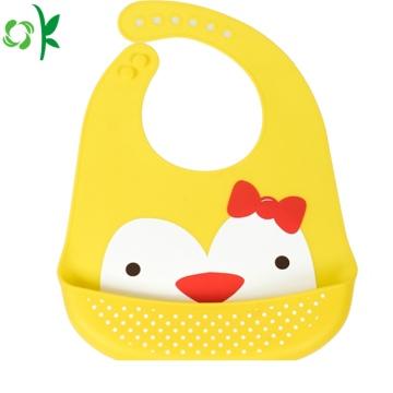 Babador animal livre do bebê do silicone de BPA para a refeição