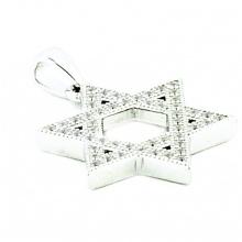 Серебряная звезда Дэвида с ювелирными изделиями CZ 19mm Pendants