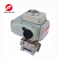 Soupape de commande de flux automatique électrique 12v 24v 220v ss304 4-20ma