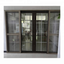 Wanjia nova chegada 80 series upvc mosquiteiro porta deslizante