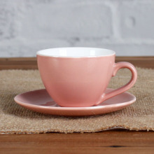 Red magnesia 3oz cup and saucer