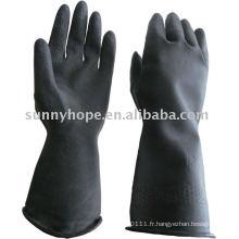 Gant de caoutchouc butyle noir de 33 cm