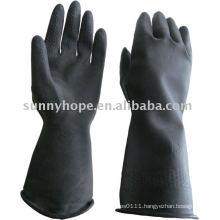 33cm black butyl rubber glove