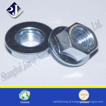 Porca de flange hexagonal (zincada)