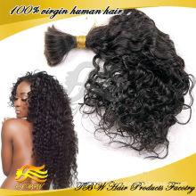 Trança maioria malaia não processada do cabelo do cabelo humano do Virgin de 100%