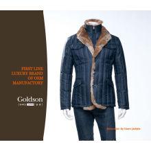 Gentlemen Top Brand Clothing Shiny Nylon Fabric Down Jacket Winter Down Coat