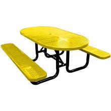 Folha perfurada decorativa mesa de jantar com cadeiras