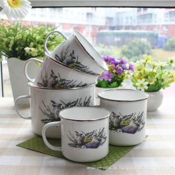 Emaille Kaffee Joyshaker Tasse für Protein Shakes